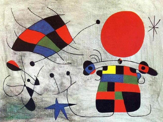 La Sonrisa De Alas Flameantes Joan Miro